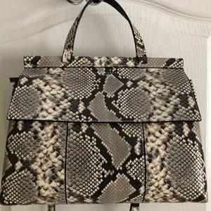 Tory Burch Block-T Embossed Snakeskin handbag